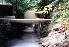 frank lloyd wright waterfall fallingwater pictures driveway trellis frank lloyd wright house