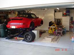 lifted porsche garage scissor lift u2013 scissor lift
