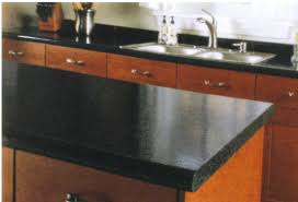 Bathroom Vanity Countertops Ideas Black Marble Countertops On Brown Kitchen Cabinets With Glass