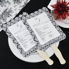 paper fans for wedding diy designer wedding fan program paper kit set of 50