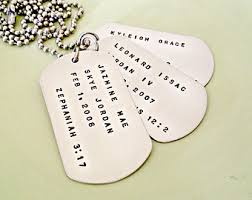 customized dog tag necklaces big personalized dog tag sted necklace