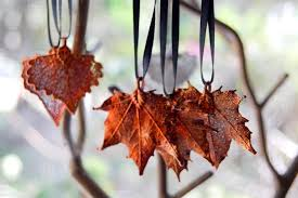 real maple leaf ornament electroformed nature fall leaf
