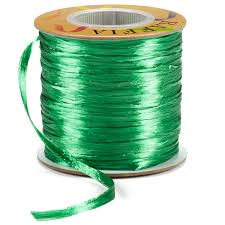 raffia ribbon emerald pearl raffia ribbon the container store
