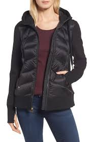 michael michael kors hooded down neoprene jacket nordstrom