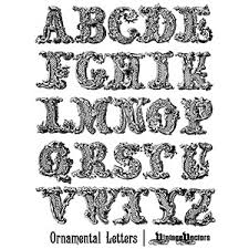 decorative ornamental letters of the alphabet vector