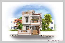 duplex house elevation plan with amazing 3bhk design at sq charvoo