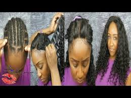 sew in with lace closure 3 part lace closure sew in tutorial no hair out ft