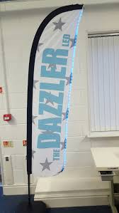 Cheap Feather Flags The Dazzler Led Feather Flag English