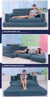 Twin Inflatable Bed by Deluxe Twin Inflatable Sofa Bed Lazy Folding Sofa Bed Sofa