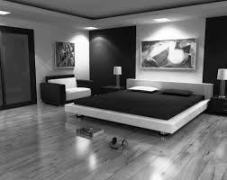 Black And White Bedroom With Grey Walls Blackandwhite Bedrooms Bedroom Decorating Ideas Black And White