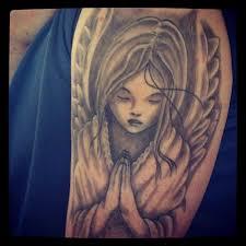 cute baby praying angel tattoo designs