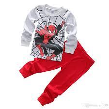 children s spider pajamas set cotton boy s pajamas children