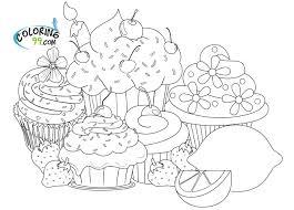 cupcake coloring page chuckbutt com