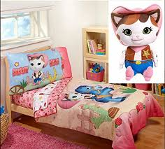 sheriff callie bedding toddler bedding sets girls 4 pieces with pillow plush stuffed toy