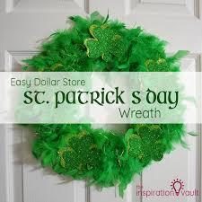 easy dollar store st s day wreath the inspiration vault