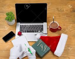 santa claus office stock photos royalty free santa claus office