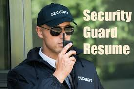 Security Guard Sample Resume by Sample Security Guard Resume