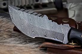 cfk usa custom handmade damascus hunter sawback tracker survival
