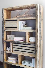 Pallet Bookcase Rustic Pallet Bookshelf By House Of Wood U2014 Crates And Pallet