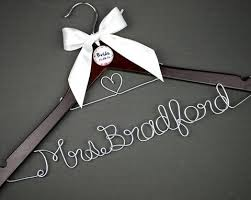 personalized wedding hangers wire name hangers bridenew wedding hangers