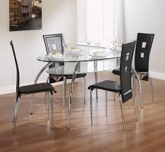charming dining room contemporary designer table with square glass
