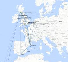 Cape Air Route Map by Connecting Flight Finder
