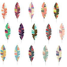 design clipart feather pencil and in color design clipart feather