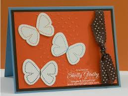 Hand Made Card Designs Handmade Card Design With Stampin U0027 Up Flight Of The Butterfly