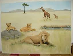 african safari mural theme ideas