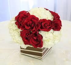 White Hydrangeas Red Roses White Hydrangeas