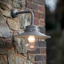garden trading belfast mounted garden wall light in charcoal