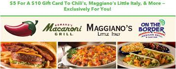 chili gift card 50 gift card to chili s maggiano s italy or on the