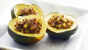 amaranth stuffed acorn squash a vegan gluten free thanksgiving