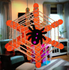 halloween kid craft diy glow in the dark spider webs