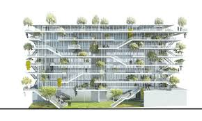 Architectural Building Plans by Amazing Green Roofed Melts Into The Mountains Of France