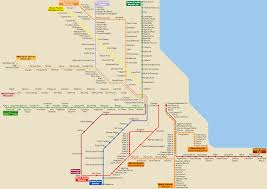 Map Chicago Chicago Public Transportation Map Chicago U2022 Mappery