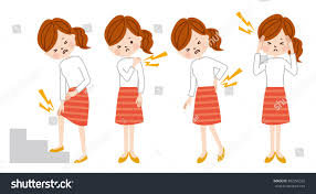 woman body pain stock vector 302296325 shutterstock