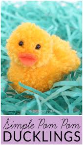 simple pom pom ducklings for spring fun simple crafts