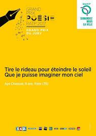 si e de la ratp voici les poèmes qui seront affichés dans le métro parisien à partir