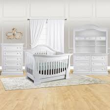 White Convertible Crib With Drawer Baby Appleseed 4 Nursery Set Davenport 3 In 1 Convertible