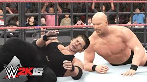 wwe 2k16 trailer reveals cover star stone cold steve austin stone cold steve austin raises hell on the cover of wwe 2k16 wwe