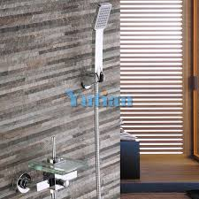 Bathtub Handheld Shower Polished Chrome Finish New Wall Mounted Waterfall Bathroom Bathtub