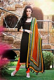 i brand black color cotton fabric dress material un stitched new