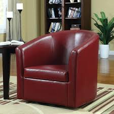 Red Leather Swivel Chair by Barrel Genuine Leather Upholstered Dining Chairleather Swivel