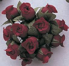 Polyester Flowers - no category poly rose bud flowers 5 8