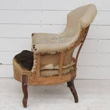 Victorian Upholstered Chair Antique French Armchair Upholstery Inclusive Antiques Atlas