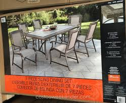 Agio International Patio Furniture Costco - agio international 7 piece sling dining set costco weekender
