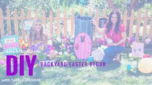 Easter Backyard Decorations by Diy Backyard Easter Decor Youtube