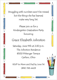 kindergarten graduation invitations colored pencils graduation invitation for kindergarten and preschool