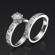 crystal diamond rings images Swarovski crystal wedding rings swarovski pb wedding bridal set jpg